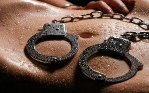 Wet cuffs on a wet stomach