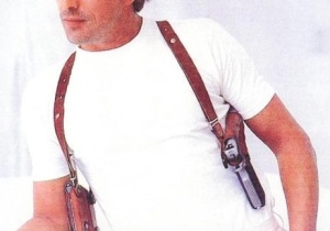 Gun and Shoulder Holster